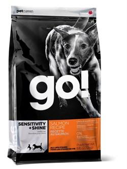 GO! Natural Holistic - Сухой корм для щенков и собак (со свежим лососем и овсянкой) Sensitivity + Shine Salmon Dog Recipe - фото 5003