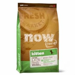 NOW Natural Holistic - Сухой корм беззерновой для котят (с индейкой, уткой и овощами) Fresh Grain Free Kitten Recipe - фото 5012