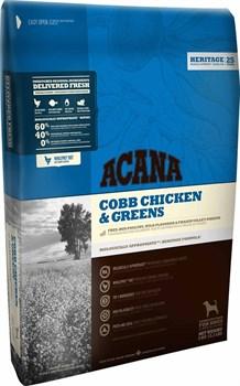 Acana Heritage - Сухой корм для взрослых собак (цыпленок с зеленью) Cobb Chicken & Greens - фото 5029
