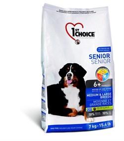 1St Choice - Сухой корм для пожилых собак средних и крупных пород (курица) - фото 5063