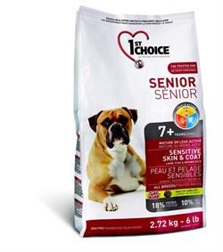 1St Choice - Сухой корм для пожилых собак с чувствительной кожей и для шерсти (ягнёнок с рыбой и рисом) - фото 5064