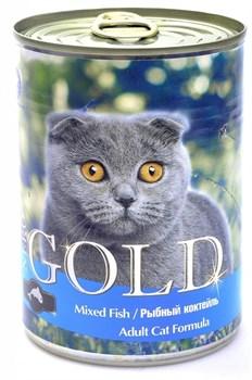 Nero Gold Super Premium - Консервы для кошек (рыбный коктейль) Cat Adult Mixed Fish - фото 5070