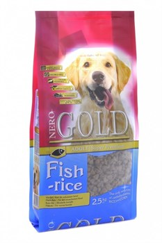 Nero Gold Super Premium - Сухой корм для взрослых собак (рыбный коктейль, рис и овощи) Adult Fish & Rice - фото 5085