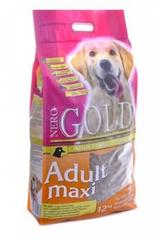 Nero Gold Super Premium - Сухой корм для взрослых собак крупных пород (курица с рисом) Adult Maxi Chicken & Rice - фото 5088
