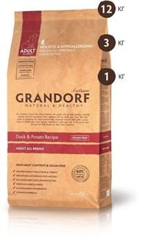 Grandorf - Сухой корм беззерновой для всех пород (утка с бататом) Grain Free Adult All Breed Duck & Potato Recipe - фото 5113