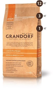 Grandorf - Сухой корм для юниоров (ягнёнок с рисом) Junior All Breed Lamb & Rice Recipe - фото 5122