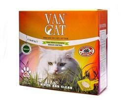 Van Cat - Наполнитель комкующийся без пыли для кошек (100% натуральный) коробка, Natural - фото 5124