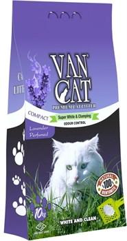 Van Cat - Наполнитель комкующийся без пыли для кошек (с ароматом лаванды) Lavender - фото 5127