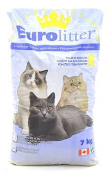 """Eurolitter - Наполнитель комкующийся без пыли """"Контроль запаха"""" для кошек (аромат детской присыпки) Dust Free - фото 5136"""