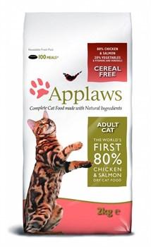 Applaws - Сухой корм беззерновой для кошек (с курицей, лососем и овощами) Dry Cat Chicken & Salmon - фото 5181