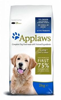 """Applaws - Сухой корм беззерновой для cобак """"Контроль веса"""" (с курицей и овощами) Dry Dog Chicken Light - фото 5185"""