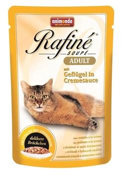 Animonda - Паучи для взрослых кошек (с домашней птицей в сливочном соусе) Rafine Soupe Adult - фото 5201