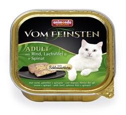 """Animonda - Консервы для взрослых кошек """"Меню для гурманов""""  (с говядиной, филе лосося и шпинатом) Vom Feinsten Adult - фото 5237"""