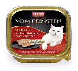 """Animonda - Консервы для взрослых кошек """"Меню для гурманов"""" (с говядиной, куриной грудкой и травами) Vom Feinsten Adult - фото 5239"""