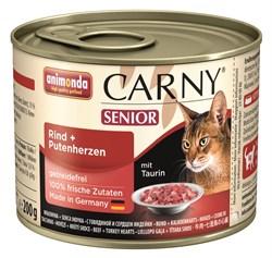 Animonda - Консервы для  кошек старше 7 лет (с говядиной и сердцем индейки) CARNY Senior - фото 5270