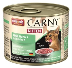 Animonda - Консервы для котят (с говядиной, курицей и кроликом) CARNY Kitten - фото 5281