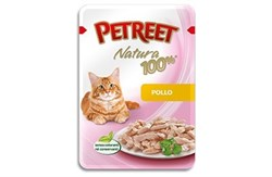 Petreet - Паучи для кошек (курица) Natura 100% - фото 5325