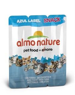 Almo Nature - Колбаски для кошек, 3шт. (тунец) Azul Label Snack Cat Tuna - фото 5332