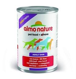 Almo Nature - Консервы для собак (меню с говядиной) Daily Menu with Beef - фото 5339