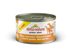 Almo Nature - Консервы для собак (с говядиной и ветчиной) Classic Beef & Ham - фото 5340