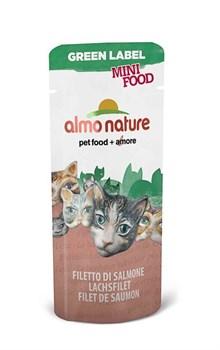 Almo Nature - Лакомство для кошек (филе лосося, 99% мяса) Green Label Mini Food Salmon Fillet - фото 5348