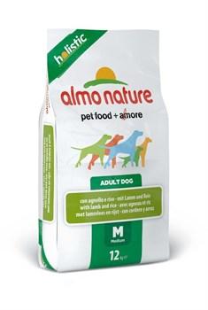 Almo Nature - Сухой корм для взрослых собак (с ягненком) Medium & Lamb Holistic - фото 5364