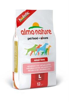 Almo Nature - Сухой корм для взрослых собак крупных пород (с лососем) Large & Salmon Holistic - фото 5365