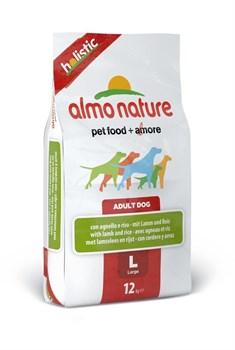 Almo Nature - Сухой корм для взрослых собак крупных пород (с ягненком) Large & Lamb Holistic - фото 5366