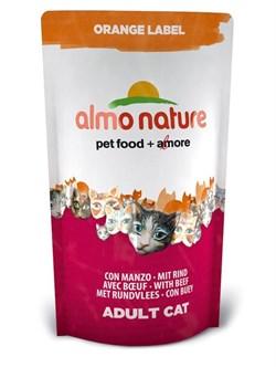 Almo Nature - Сухой корм для кастрированных кошек (с говядиной) Orange label Cat Beef - фото 5370