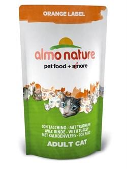Almo Nature - Сухой корм для кастрированных кошек (с индейкой) Orange label Cat Turkey - фото 5371
