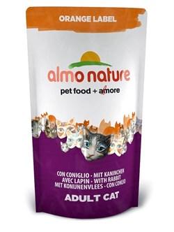 Almo Nature - Сухой корм для кастрированных кошек (с кроликом) Orange label Cat Rabbit - фото 5372