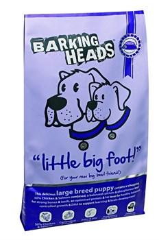 """Barking Heads - Сухой корм для щенков крупных пород """"Большелапый малыш"""" (с курицей, лососем и рисом ) Little Big Foot (Large Breed Puppy) - фото 5398"""
