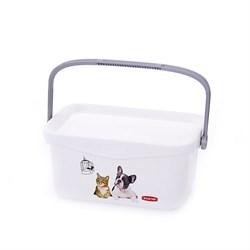 """Curver PetLife - Мультифункциональный контейнер """"Домашние любимцы"""" малый, на 3 л, 26*18*11см - фото 5662"""