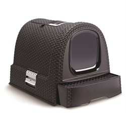 Curver PetLife - Туалет-домик для кошек, темно-серый, 51*39*40см - фото 5669