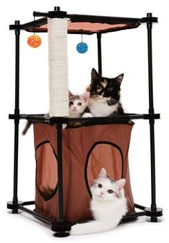 """Kitty City - Игровой комплекс с когтеточкой для кошек Биг Бен """"Tower"""", 79*45*45см - фото 5719"""