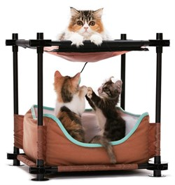 "Kitty City - Лежак для кошек Барские покои ""Cozy Bed"", 44*45*45см - фото 5738"