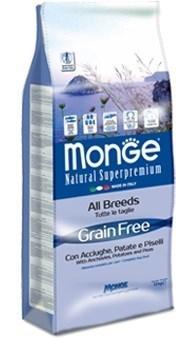 Monge - Сухой корм беззерновой для собак всех пород (анчоусы с картофелем и горохом) Dog Grain Free - фото 6051