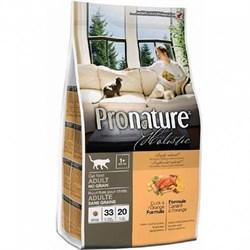 Pronature Holistic - Сухой корм беззерновой для кошек (утка с апельсином) - фото 6118