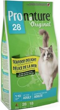 """Pronature Original - Пронатюр 28 сухой корм для кошек  """"Океан Удовольствия"""" (цыпленок и морепродукты) - фото 6145"""