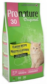 Pronature Original - Пронатюр 30 сухой корм для котят (цыпленок) - фото 6149