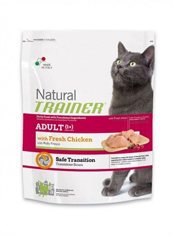 Trainer - Сухой корм для взрослых кошек (со свежим мясом курицы) Natural Adult Fresh Chicken - фото 6283