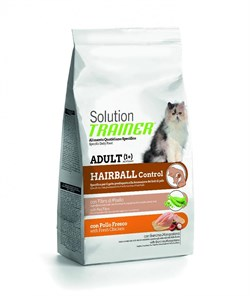 Trainer - Сухой корм для кошек для выведения шерсти (со свежей курицей) Solution Hairball With Fresh Chicken - фото 6301
