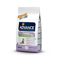 Advance - Сухой корм для вывода шерсти у кошек (с индейкой и рисом) Hairball - фото 6509