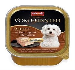 """Animonda - Консервы для собак """"Меню для гурманов"""" (с говядиной, йогуртом и овсяными хлопьями) Vom Feinsten Adult - фото 7677"""