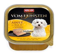 """Animonda - Консервы для собак """"Меню для гурманов"""" (с говядиной, яйцом и ветчиной) Vom Feinsten Adult - фото 7679"""