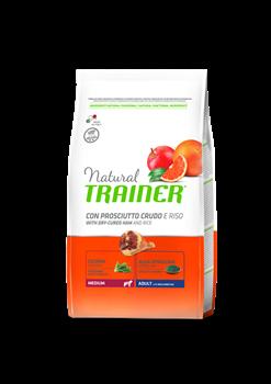 Trainer - Сухой корм для взрослых собак средних пород (с сыровяленой ветчиной и рисом) Trainer Natural Medium Adult - фото 7687