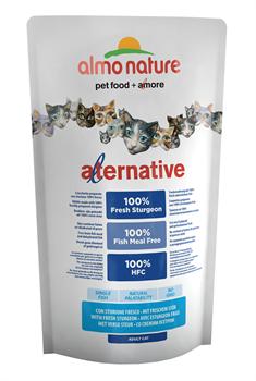 Almo Nature Alternative - Сухой корм для кошек (со свежим осетром) 55% мяса Alternative Sturgeon and Rice - фото 7910