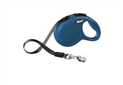 Flexi - Рулетка-ремень для собак, размер XS - 3 м до 12 кг (голубая) New Classic tape blue - фото 8081