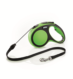 Flexi - Рулетка-трос для собак, размер M - 5 м до 20 кг (зеленая) New Comfort Cord green - фото 8182