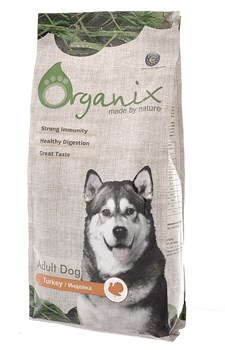 Organix - Сухой корм для взрослых собак для чувствительного пищеварения (с индейкой) Adult Dog Turkey - фото 8265